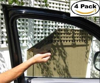 Visor Film - KwikShade High Quality Car Window Sunshade For Car Seat Windshield Baby Sun Visor (4 Pack)