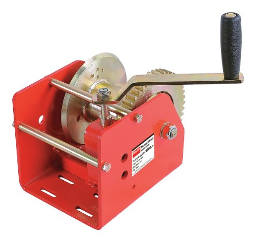 (Dayton 12U381 Manual Winch, Worm Gear, Cap 3000 Lb)