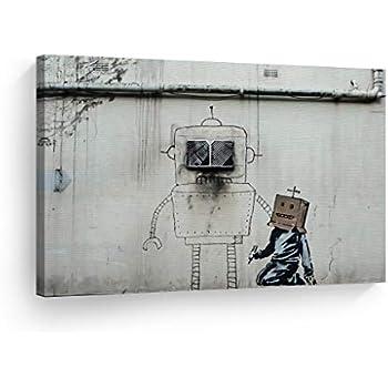 Banksy Art Canvas Print Head Picture Street Art Wall Art Painting Home Decor