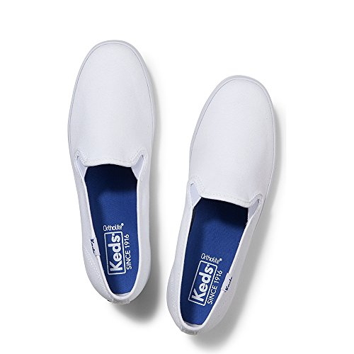 Keds Women's Champion Original Canvas Slip-On Sneaker,White Canvas,8 W US - Keds Canvas Sneakers