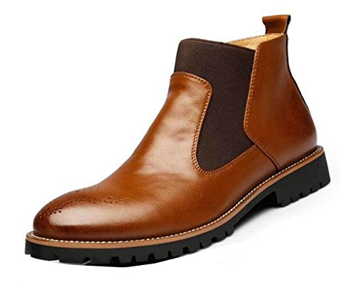 for XIUWU Brwon Boots Oxford Ankle Men's Men ONS Slip Boots vRvU0qr