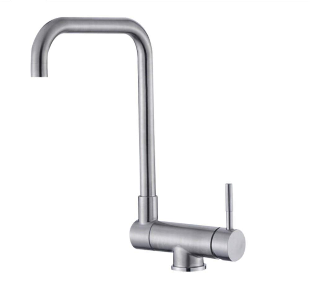 Basin Faucet304 Stainless Steel Hot and Cold Kitchen redary Faucet