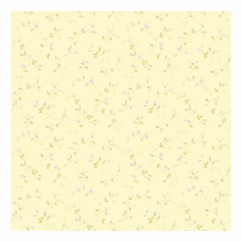 York Wallcoverings SM8759SMP Small Treasures Dainty Winding Floral Vine 8 x 10 Wallpaper Memo Sample