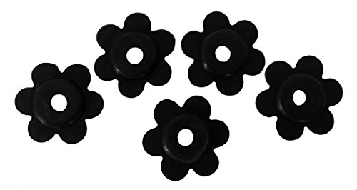 KINREX Garden Flag Rubber Stopper - Holder for Indoor and Outdoor Yard Garden Flag Pole Stand - Set of 5 Pieces - Black