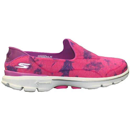 Skechers Rendimiento Go Walk 3 Inventiva zapato que camina Pink/Purple