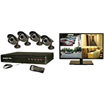 Security Labs SLM462 4-Channel 500GB Security System with 18.5-Inch Monitor (Black)