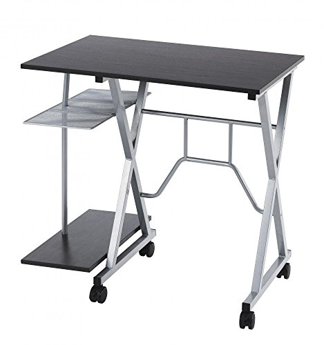 BestMassage Home office Computer Workstation Office Desk / Table W/Wheels C28 (Tables Computer Desks)