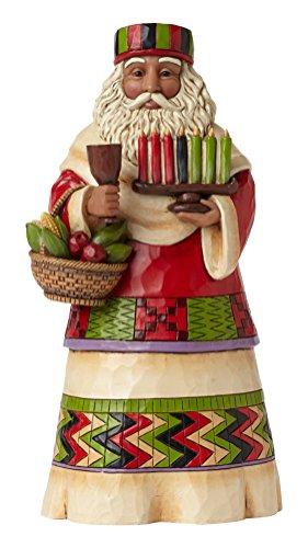 (Jim Shore Heartwood Creek African Santa Stone Resin Figurine)