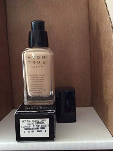 True Color Liquid Foundation - Avon TRUE Color Ideal Flawless Liquid Foundation broad spectrum SPF 15 sunscreen NATURAL BEIGE