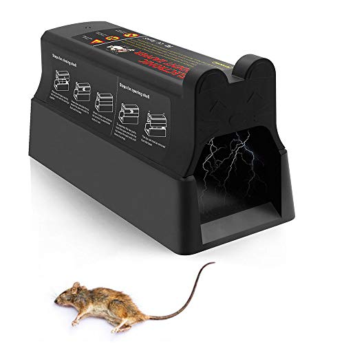 - Suminey Electronic Rat Trap, Rats and Mice Catcher 7,000 Volts Clean and Humane Control Traps to Kill Rats Mice (Uses Mains Adapter Or Battery) Upgrade