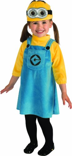 Despicable Me 2 Female Minion Costume, Toddler 1-2 -