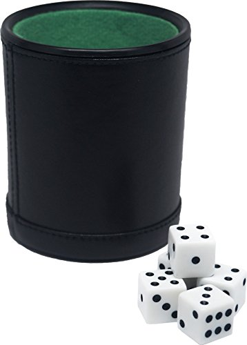 Fat Cat Felt Lined Dice Cup with 5 Dice