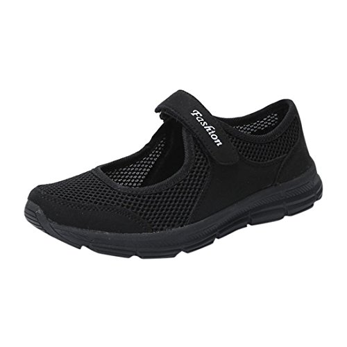 Mujer QinMM Deportes Mocasines Zapatillas Respirable Plataforma Verano Negro Sandalias Sneaker Malla Casual Zapatos RXwqXrngZ