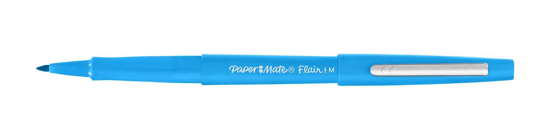 Nero Punta Media da 0.7 mm Scatola da 36 Papermate Flair Nylon Penna con Punta Sintetica