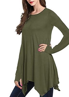 Yucharmyi Women's Casual Casual Plain Simple T-shirt Loose Dress Thumb Hole Mini Dress