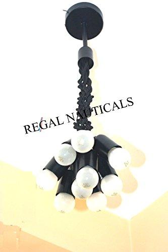 9 pendant lights Chandelier Black Light Bulb