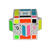 FangShi LimCube Dual 3x3x3 Cube - Professional Twist Cube Puzzles, IQ Challenge Brainteaser Puzzle, Perfect for Gifts & Collection (2.2) (White)