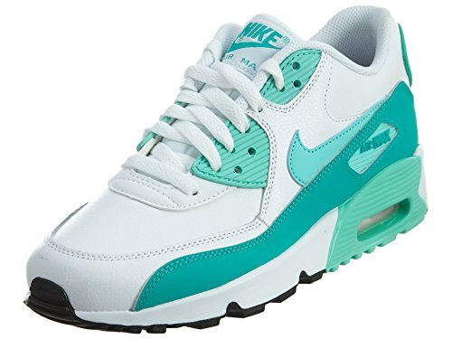Nike Air Max 90 Letter Big Kids Style Shoes : 833376, White/Hyper Turquoise/Clear Jade, 6.5 (Womens Max Air)