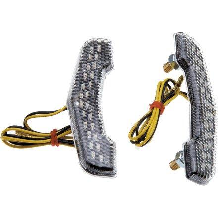 Lockhart Phillips Bracket LED Turn Signals (CLEAR)