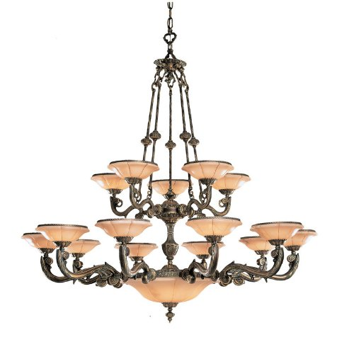 (Crystorama 879-WH Natural Alabaster - Twenty Light Chandelier, Weathered Patina Finish with Alabaster Stone)
