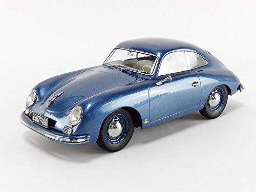1954 Porsche 356 Coupe Blue Metallic 1/18 Diecast Model Car by Norev 187450