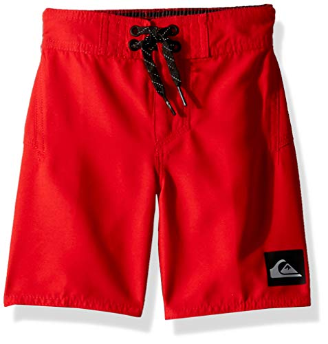 Quiksilver Little Highline Kaimana Boy's 14 Boardshort Swim Trunk, Quick red, 2