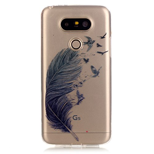 Price comparison product image LG G5 Case, Urberry [High Clear Visual] Shock Proof TPU Case for LG G5 with Phone Bracket