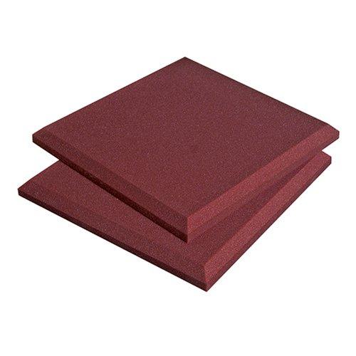 Auralex Acoustics SonoFlat Acoustic Absorption Foam, 2'' x 24'' x 24'', 16-Panels, Burgundy by Auralex Acoustics
