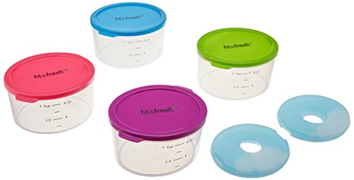 Fit & Fresh Multicolored Portion Control Containers,