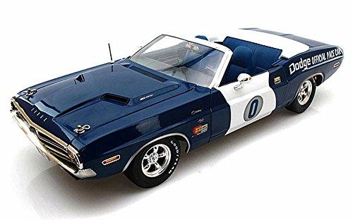 12871 Greenlight - Dodge Challenger Convertible California Ontario Motor Speedway Pace v856hko8817 Car (1971, 1/18 scale diecast model car, Blue) c172t0rkg4 12871 diecast car ()
