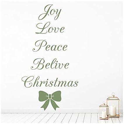 Peace Christmas Quotes.Amazon Com Celeste Decal Banytree Love Joy Peace Christmas