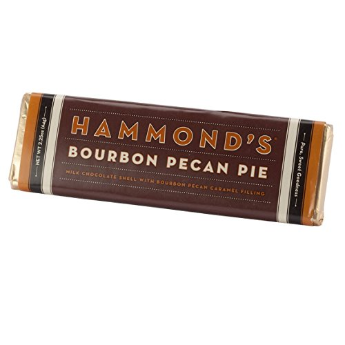 Hammonds Gourmet Chocolate Bar – Kosher – 6 Pack – 2.25 oz each (Bourbon Pecan Pie Milk Candy Bar)