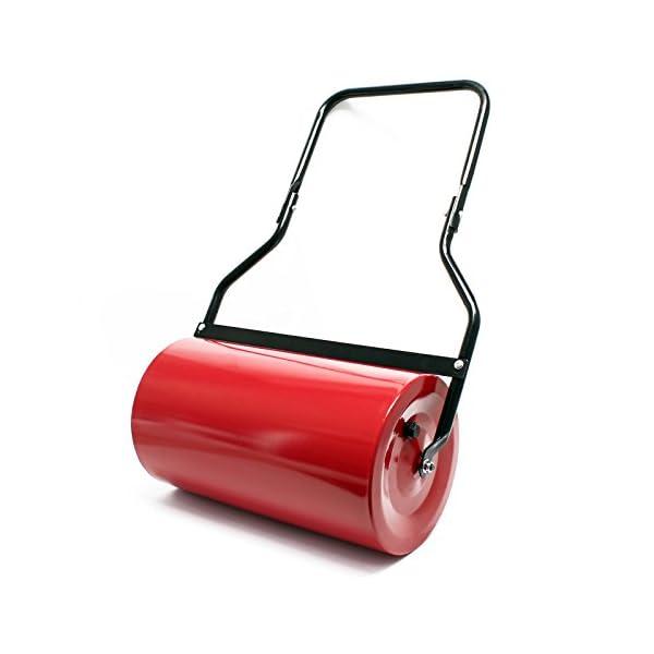 Wiltec-Rullo-da-Giardino-32-x-57cm-Riempibile-Fino-a-45-l-Rullo-a-Mano-con-raschiatore-antisporco