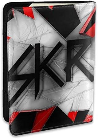 スクリレックス Music Skrillex Logo パスポートケース メンズ 男女兼用 パスポートカバー パスポート用カバー パスポートバッグ ポーチ 6.5インチ高級PUレザー 三つのカードケース 家族 国内海外旅行用品 多機能
