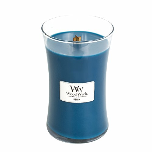 Denim WoodWick Candle 22 oz. Review