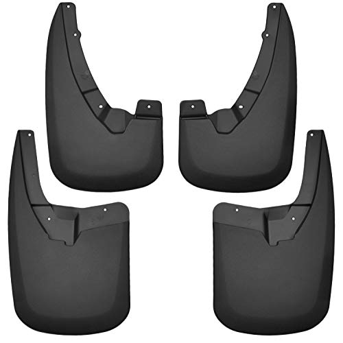 Husky Liners 58176 Black Fits 09-18, 2019 1500 Classic, 2010-2018 Ram 2500/3500-WITHOUT OEM Fender Flares, 4 Pack