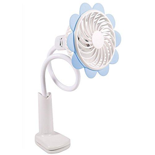 Momoday Desktop USB Fan Flexible Mini Fan Sun Flower Fan With Rechargeable Portable Clip Bendable Portable Rechargeable Battery Operated Clip On USB Fan for Baby Stroller Office Desk Bedside Reading (Desktops Sun)