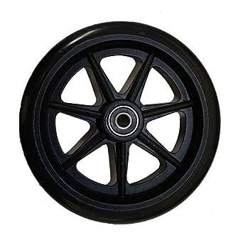 TuToy Reemplazo de silla de ruedas Rueda negra Accesorios de ...
