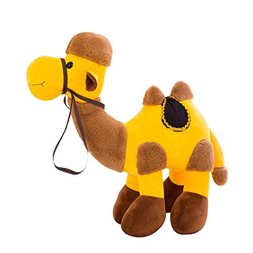 Mbros.KRJW Bactrian Camel Plush, Stuffed Animals, Plush Toys, Children's Gifts,Cuddling (Yellow)
