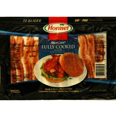 Hormel® Black Label Fully Cooked Bacon 6- 72 ct Packs *Free Expidited Shipping*