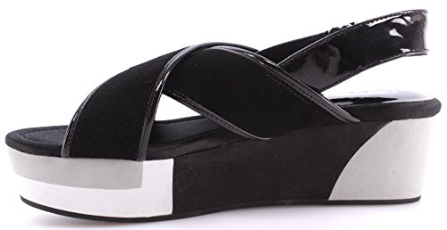 Liu Jo Chaussure Sandales Femmes Shoes Sandals Wedge Myriam Black New Nouveau