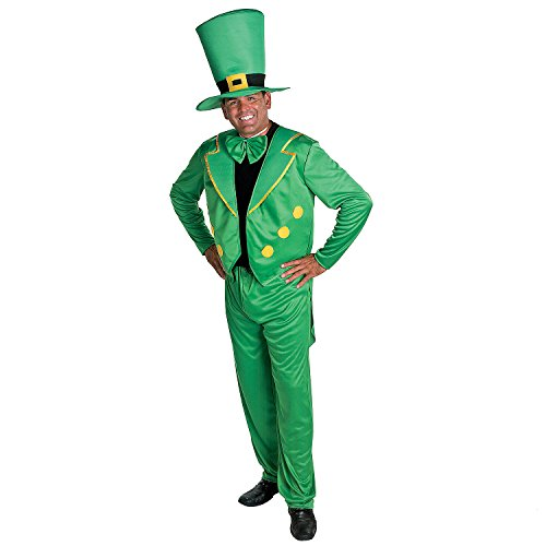Adult LEPRECHAUN Costume L/XL St Patrick Day Leprachaun 4pc Hat Jacket Tie Pants]()