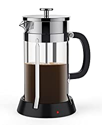 BREVO 8 Cup French Press Coffee Tea Maker with 35W Electric Warmer