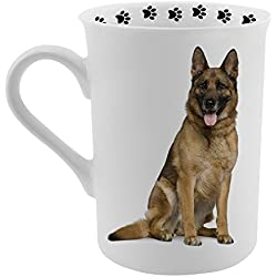 Dimension 9 German Shepherd Coffee Mug, White