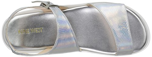 la sintético Izara West sandalia vestido Nine Silver de nqRzWBZA