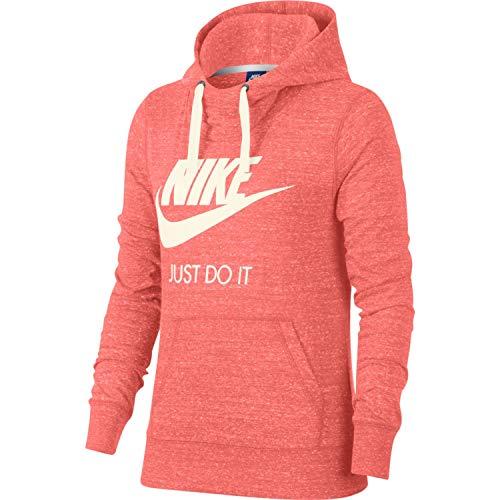Nike Womens Gym Vintage HBR Hoodie Sunblush/Sail 914414-655-Size Small