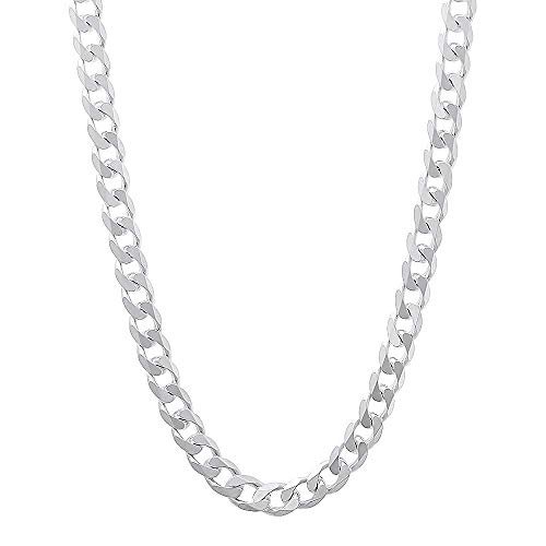 925 Sterling Silver Italian 5mm Curb Link Solid Necklace Chain 16