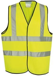 Guilty Gadgets /® Yellow Hi Vis High Viz Visibility Vest Waistcoat Jacket Safety En471 Standard Work Size S Small