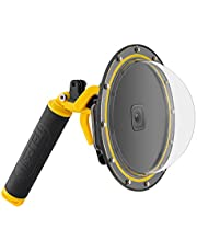 TELESIN Dome Port for GoPro Hero 8 Black, Underwater Dive Case Camera Lens Cover Protector with Waterproof Housing Case, Pistol Trigger, Floating Hand Grip, Anti-Fog Insert (Hero 8 Black Dome)