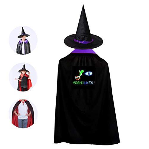 Childrens' Halloween Costume Yoshouken Cloak Cool Kids Wizard Hat Cosplay For Boys&Girls -